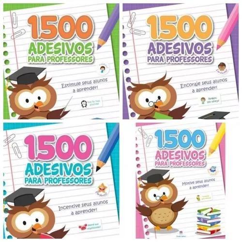 Frete grátis: kit com 30 livros 1500 adesivos p/