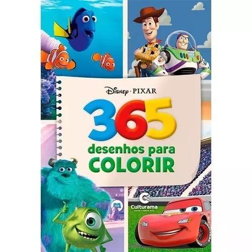Kit 2 livros para colorir 365 desenhos disney e marvel