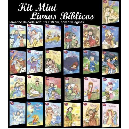 Kit mini livros bíblicos - 25 und - todo livro