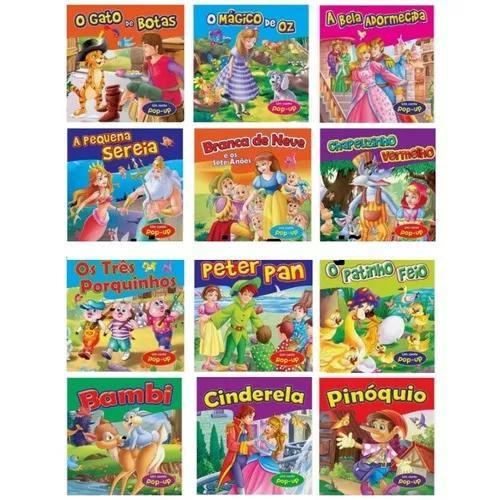 Livro coleção almofadado um conto pop up clássicos avulso