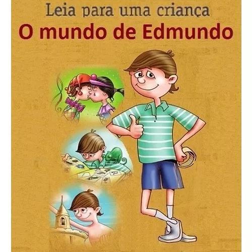 Livro infantil - o mundo de edmundo, figurinhas e desenhos