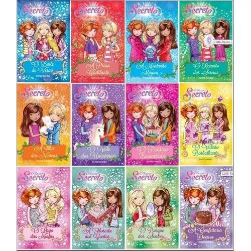 Livros infantis coleção completa reino secreto (12vol.)