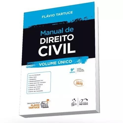 Manual de direito civil flávio tartuce vol unico 2019