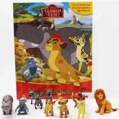 Miniaturas a guarda do leão amigos da selva c/12 brinquedos