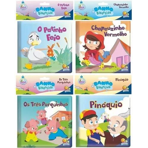 Primeiro livro do bebê banho divertido 4 histórias