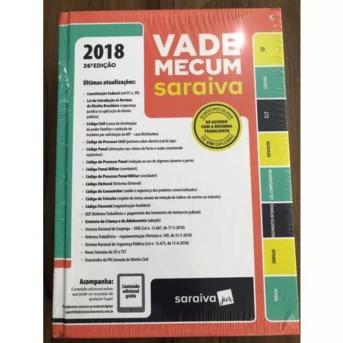 Vade mecum saraiva tradicional 26ª edição 2018
