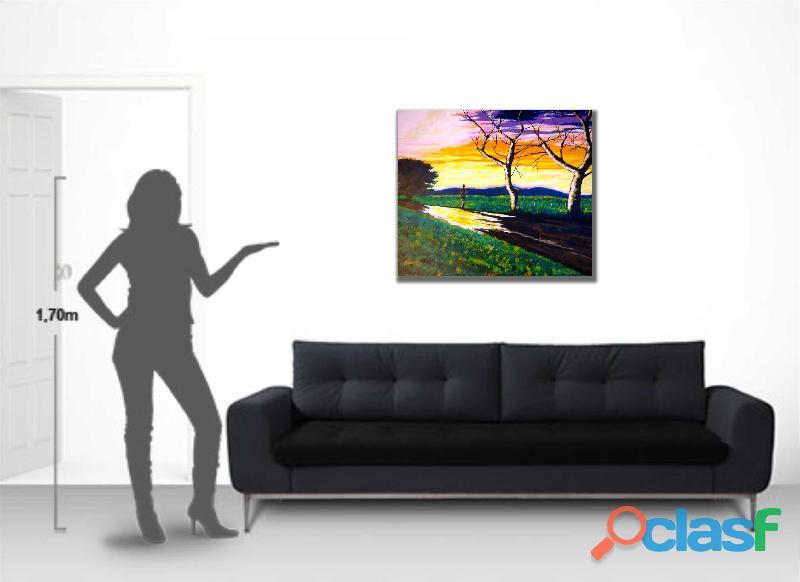 Quadro para parede original, pintado a mão para decorar sala, quarto