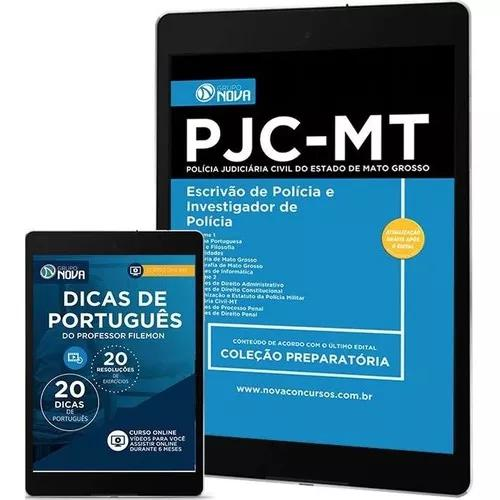 Apostila escrivão e investigador polícia - concurso pjc-mt