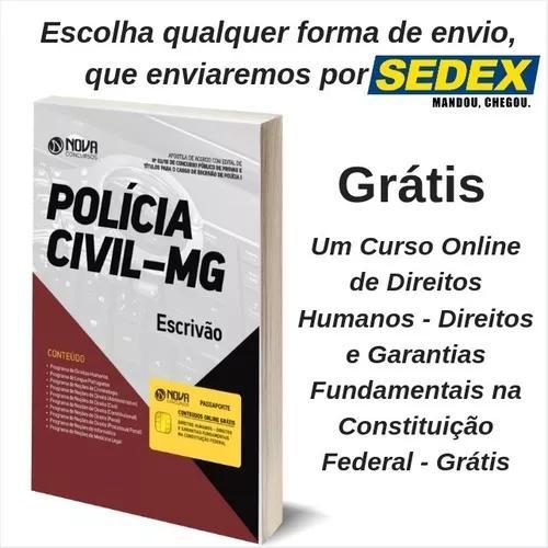 Apostila pc-mg 2018 - escrivão de polícia i