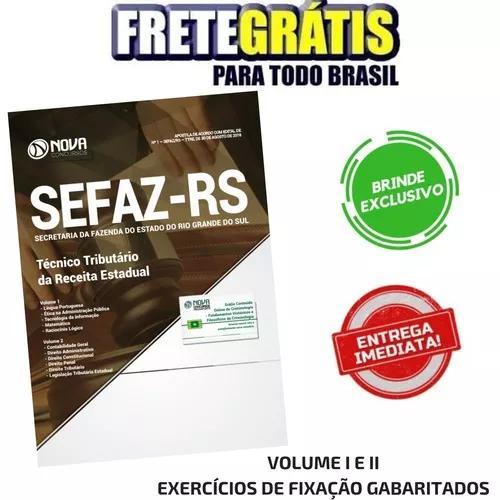 Apostila sefaz-rs 2018 - técnico tributário + brinde