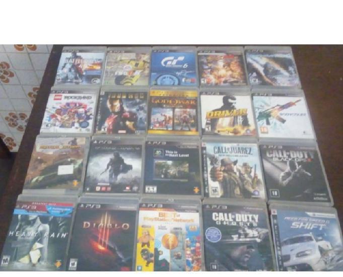 Cada jogo de play station 3 por r$30,00 ou 2 jogos por