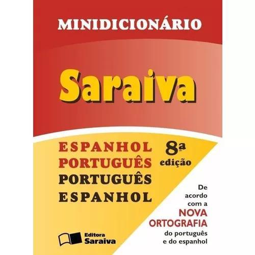 Minidicionário saraiva - espanhol português/port