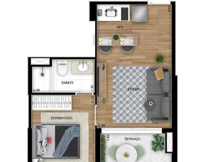 Apartamento 1 a 3 dorms, de 36, 61, 83m2 metro conceição