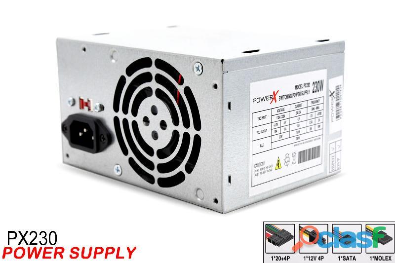 Fonte powerx de alta potencia 230w 24pinos + 2 sata 2 molex