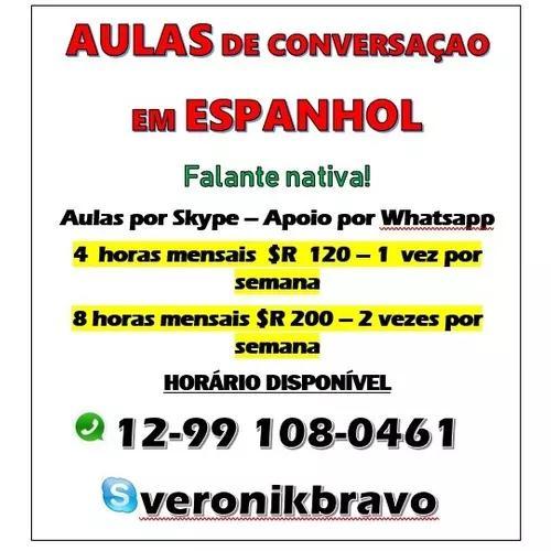 Espanhol aulas com falante nativa - online e pessoalmente