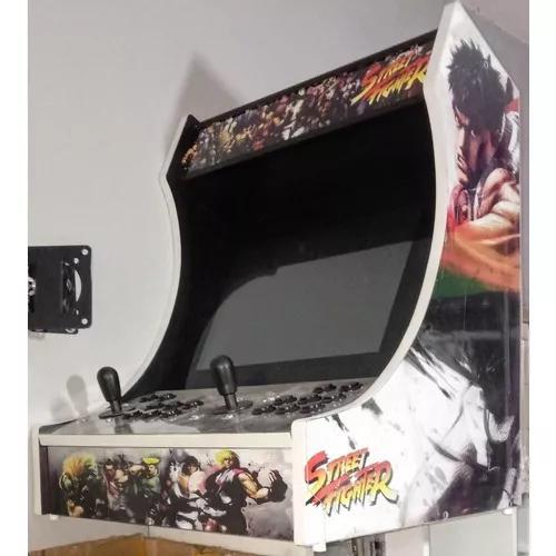 Fliperama bartop 17 10mil jogos adesivado street fighter