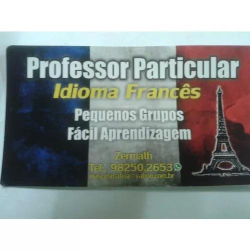 Francês:aulas particulares ou