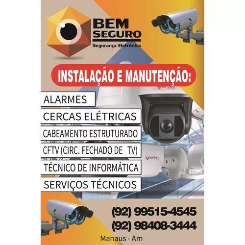 Instalacao de cameras de seguranca; alarmes residenciais