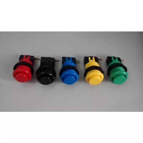 Kit 20 botões de nylon eletromatic+ 2 joystick seup