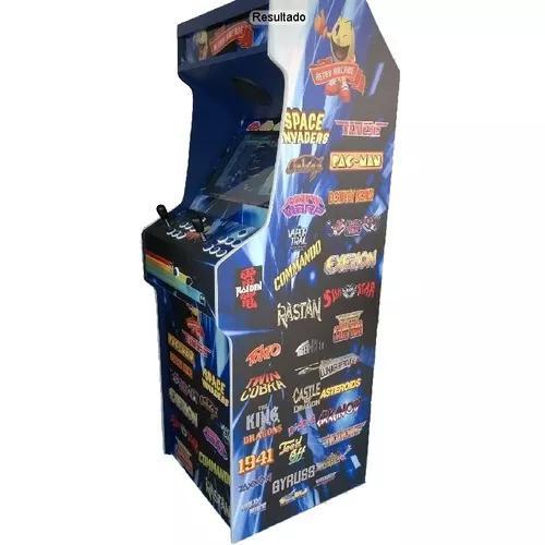 Máquina multijogos retrô 19 arcade 1300 jogos c/ ficheiro