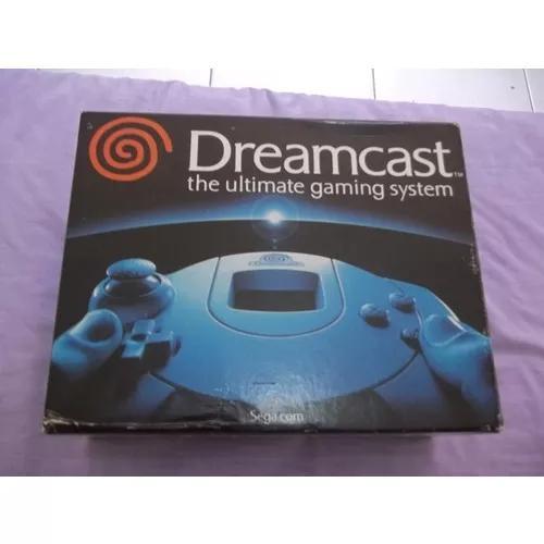 Sega dreamcast completo na caixa