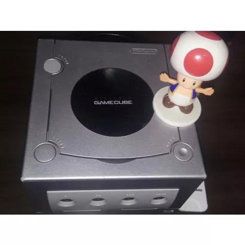 Console game cube original completo - cinza