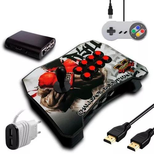 Controle arcade fliperama pc/play3/play4/rasp com 9380 jogos