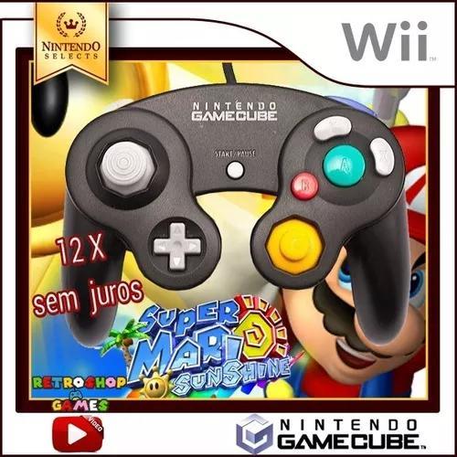 Controle original nintendo game cube e wii - 12x s