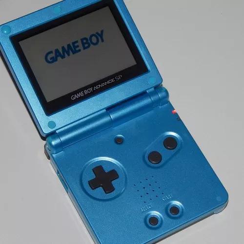 Game boy adance sp azul 001 + carregador original + 2 jogos