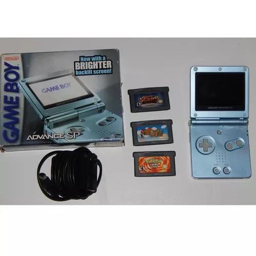 Game boy adance sp azul 101 + carregador original + caixa