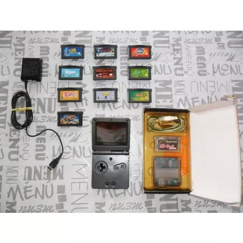Game boy advance sp ags 101 + jogos + flash card