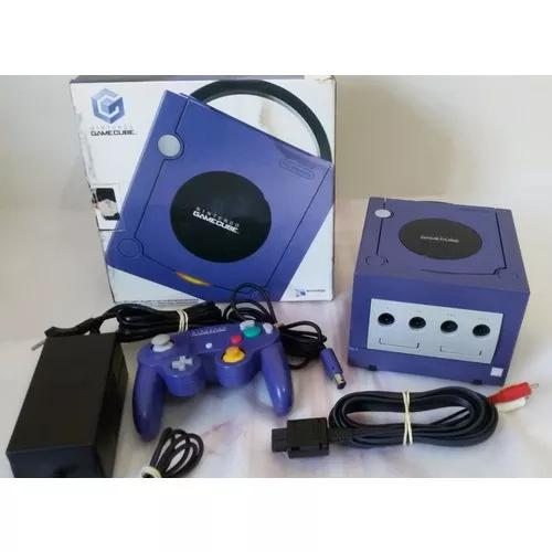 Game cube completo na caixa original azul indigo gradiente