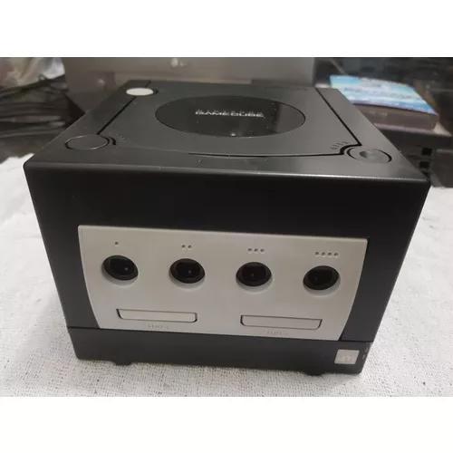 Game cube preto com controle original free region chaveado