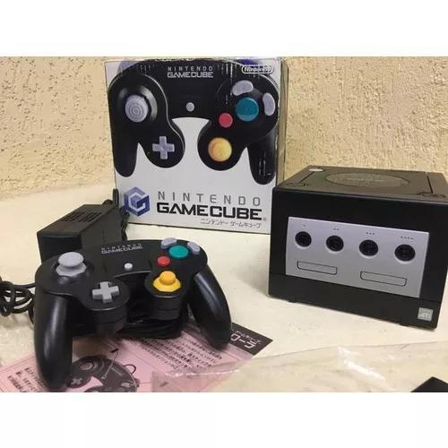 Game cube preto japonês