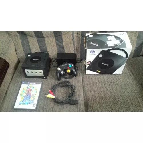 Gamecube completo na caixa com mario sunshine original