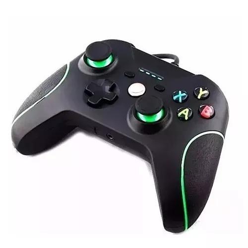 Kit 2 controle para x-box one com fio usb pc joystick