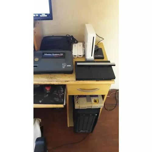 Mega drive 3 com 1 controle 6 fitas