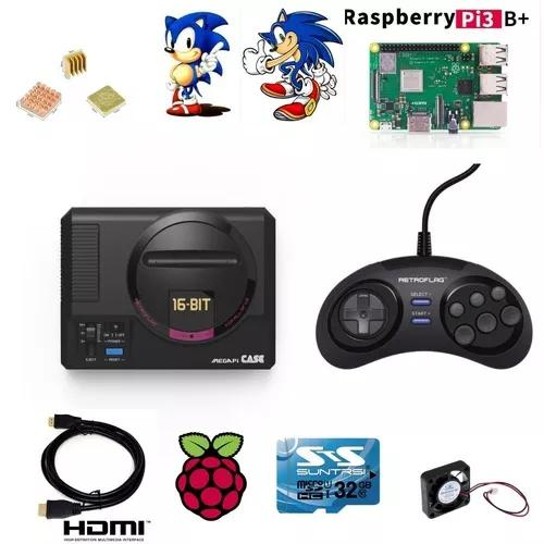 Mega drive mini retroflag original mais controle 10800 jogos
