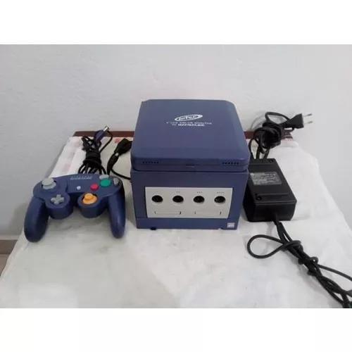 Nintendo game cube azul + tela portatil+ jogo