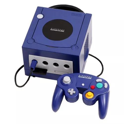 Nintendo gamecube original roxo completo