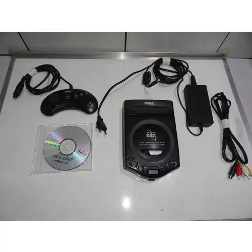 Sega cd cdx mega drive console tropicalizado rodando cdr c08