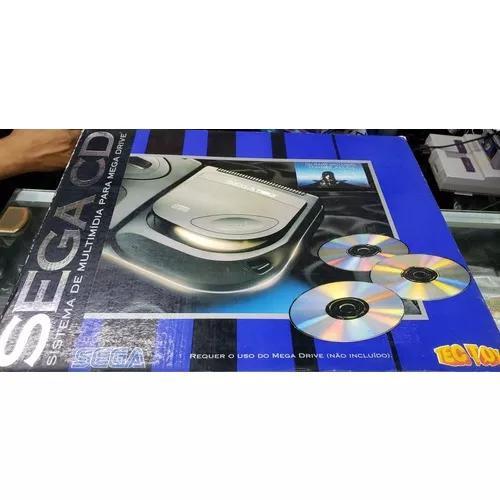 Sega cd, tectoy completo, caixa, manuais 3 jogos, badeijas
