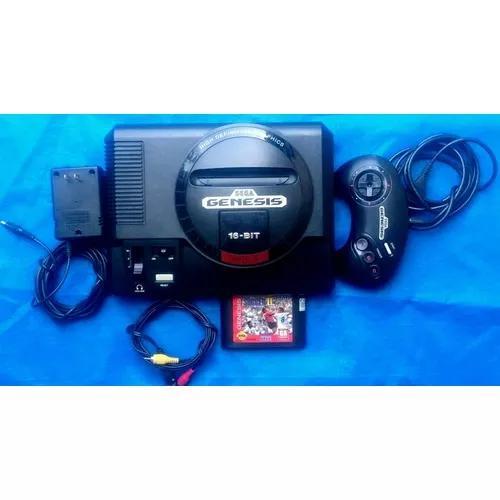 Sega genesis mega drive americano + fonte + cabo av e jogo