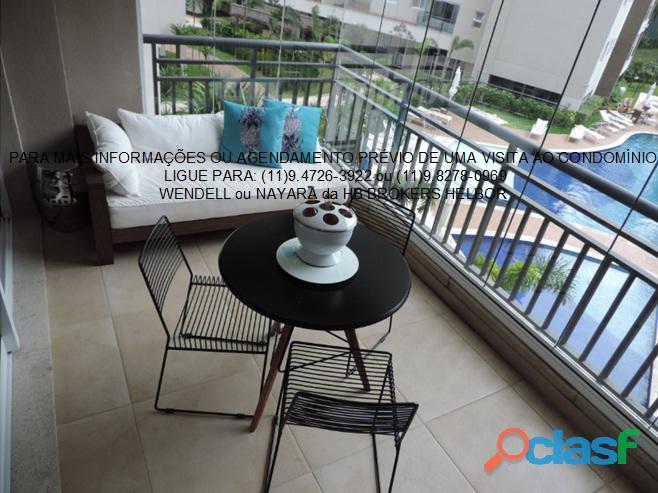 Apartamento pronto 93 m 3 dorms 1 suíte 2 vagas Movement City e Life SBC 12