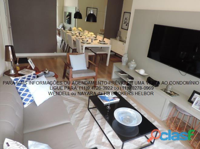 Apartamento pronto 93 m 3 dorms 1 suíte 2 vagas Movement City e Life SBC 1