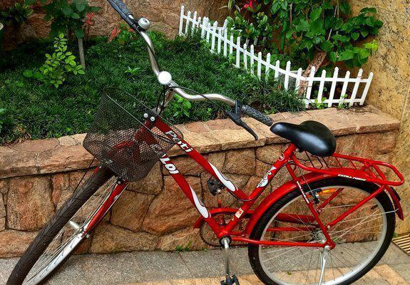 Bicicleta caloi poti com cesto sem uso