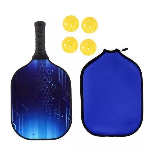 Núcleo composto de favo de mel azul pickleball raquete de r