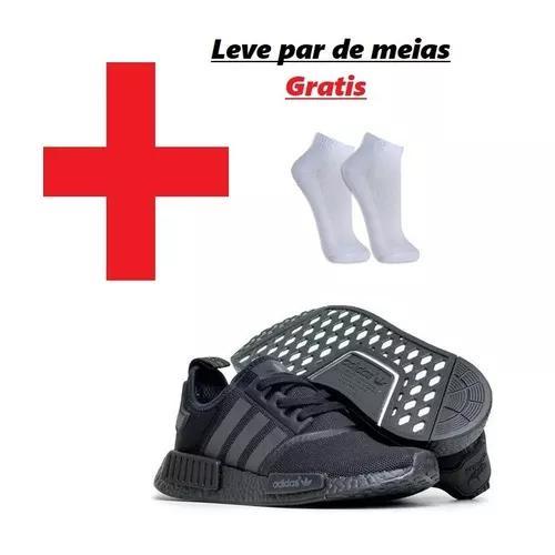 Tênis adidas nmd runner r1 unissex (grátis par de meias)