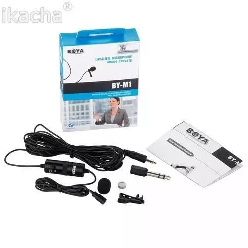 Boya mic lapela by/m1 m1 iphone smartphone android cabo 6m