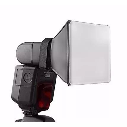 Difusor mini softbox p/ flash pixco canon nikon yongnuo etc